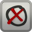 Icon: 3D Kreuz in Auswahlkreis - Cross