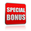 special bonus in red banner
