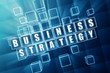 business strategy in blue glass blocks