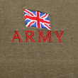 British Army logo on a khaki background