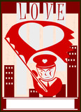 Propaganda z sercem poster