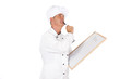 Chef preparing menu