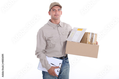 Man delivering post