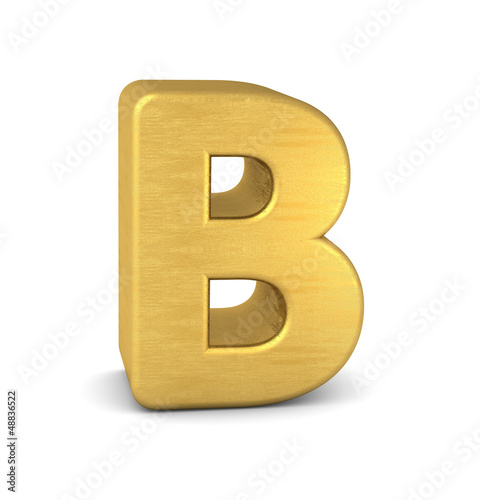 buchstabe letter B gold vertikal