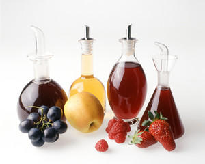 Four fruit vinegars