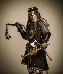 Medieval knight with different weapon