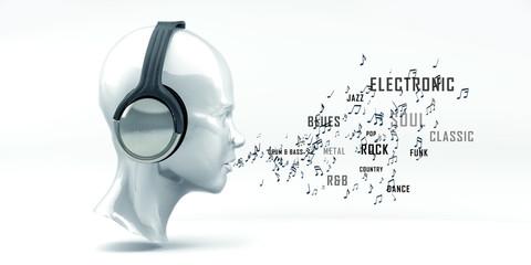Musik, Sound, Radio, Kopfhörer, Kopf