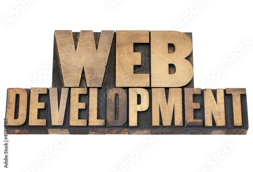 web development in wood type