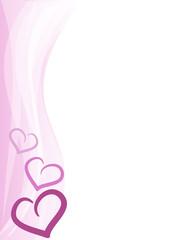 Sfondo verticale cuoricini rosa