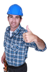 A foreman giving the thumb up.