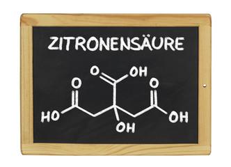 chemische Strukturformel von Zitronensäure