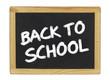 Back to School auf einer Schiefertafel