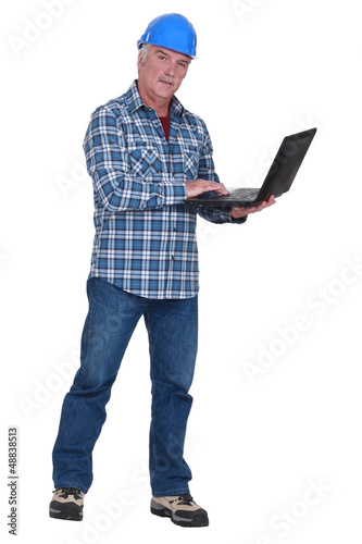 Experienced tradesman embracing technology
