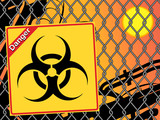 Bio hazard sign. Yellow and black bio hazard