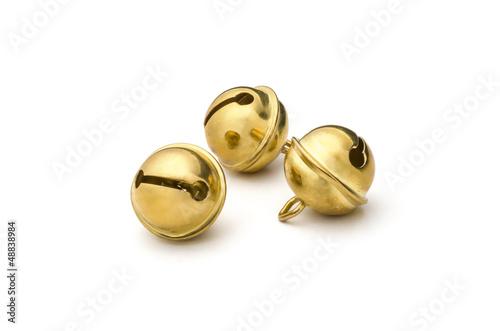 Leinwanddruck Bild Drei goldene Glöckchen