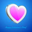 White Pink Heart Like Glossy Pad Or Mobile Phone Talk Cloud