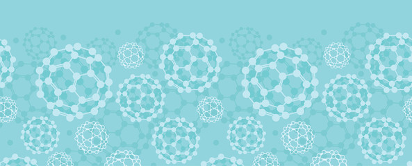 Vector buckyballs horizontal seamless pattern background