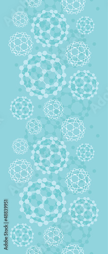 Vector buckyballs vertical seamless pattern background ornament