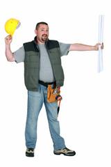 Foreman holding plan