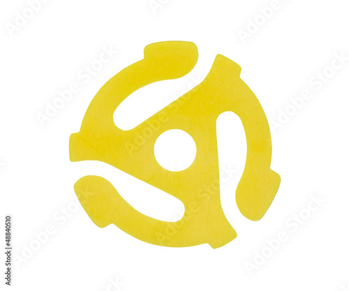 Yellow Vinyl 45 RPM Record Adapter