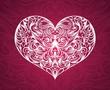 Pattern in a shape of a heart.