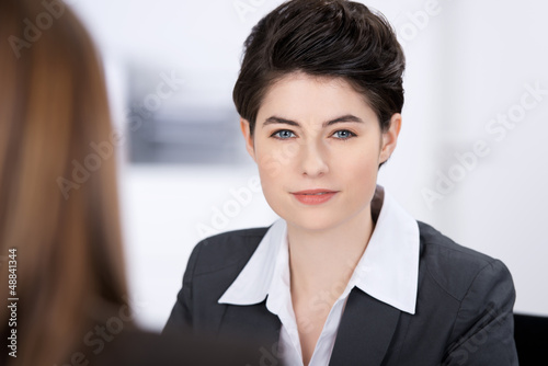 geschäftsfrau am arbeitsplatz