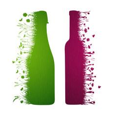 Rotwein Sektflasche Layout