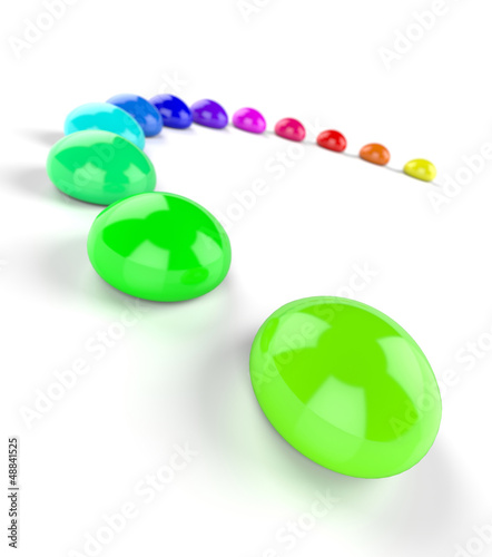 3D Regenbogen Halbkreis aus Farbtropfen 6