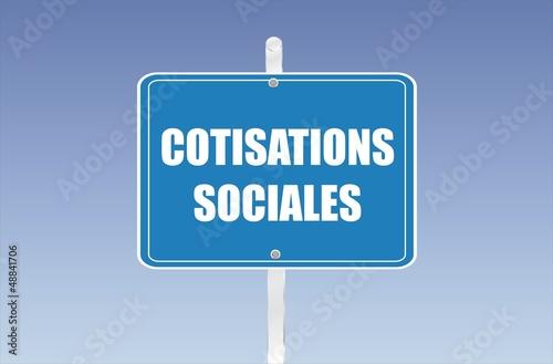 panneau cotisations sociales