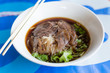 beef noodle soup thai food style