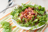 Beans and prosciutto salad