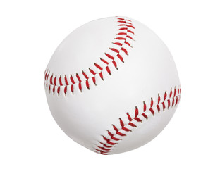 New Baseball Isolated with Clipping Path