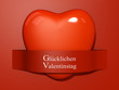 Valentine's Paper Cut out - German Language