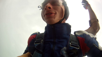 Skydiving video. Tandem.