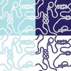seamless background with marine knots