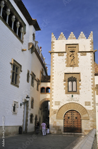 A walk in Sitges on the Costa Brava in Catalonia. Spain