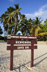 Entrance to Cay Sal, one of the islands that make up the Nationa