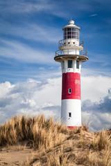 Lighthouse in Nieuwpoort. Belgium.