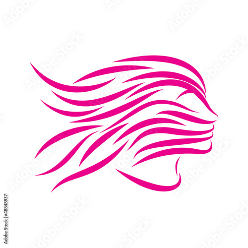 Logo girl and spa # Vector