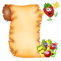 pergamena frutta