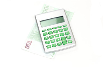 calculatrice et billet
