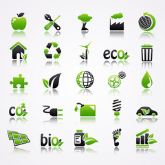 ecology icons reflection