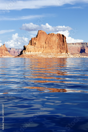 Vertical view on the Lake Powell