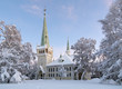 Jokkmokk New Church in winter, Sweden