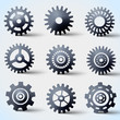 Vector icon set of gears