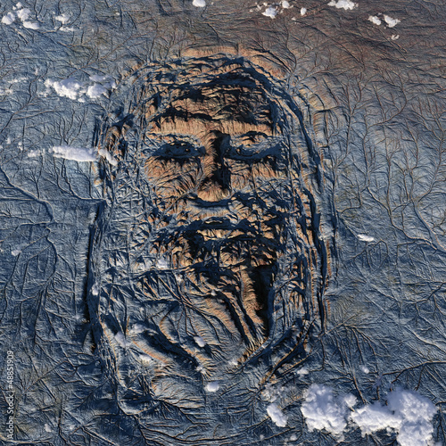 human face on the Earth
