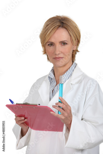 female doctor with test-tube