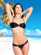 Woman in bikini at beach