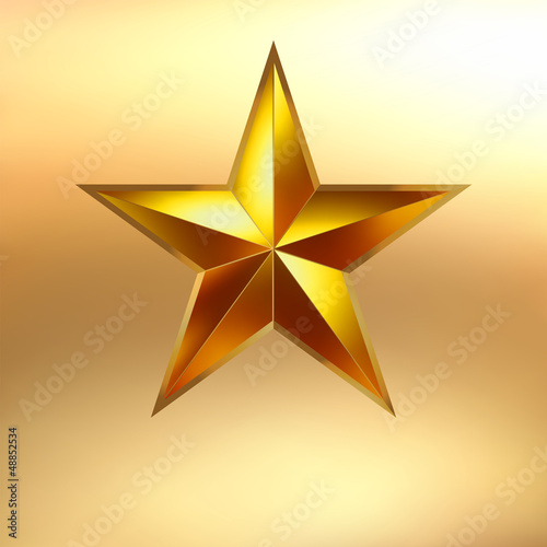 Illustration of a Gold star background. EPS 8