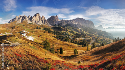 Mountain panorama in Italy Alps dolomites - Passo Gardena © TTstudio